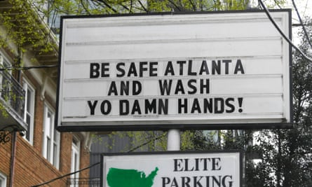 The mayor of Atlanta has mandated a citywide shutdown to stem the spread of Covid-19.