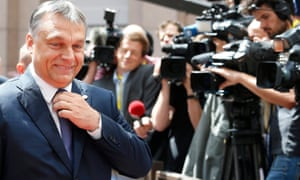 Hungarian prime minister Viktor Orban arrives for last month's European summit in Brussels