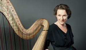 The harpist Marie-Pierre Langlamet.