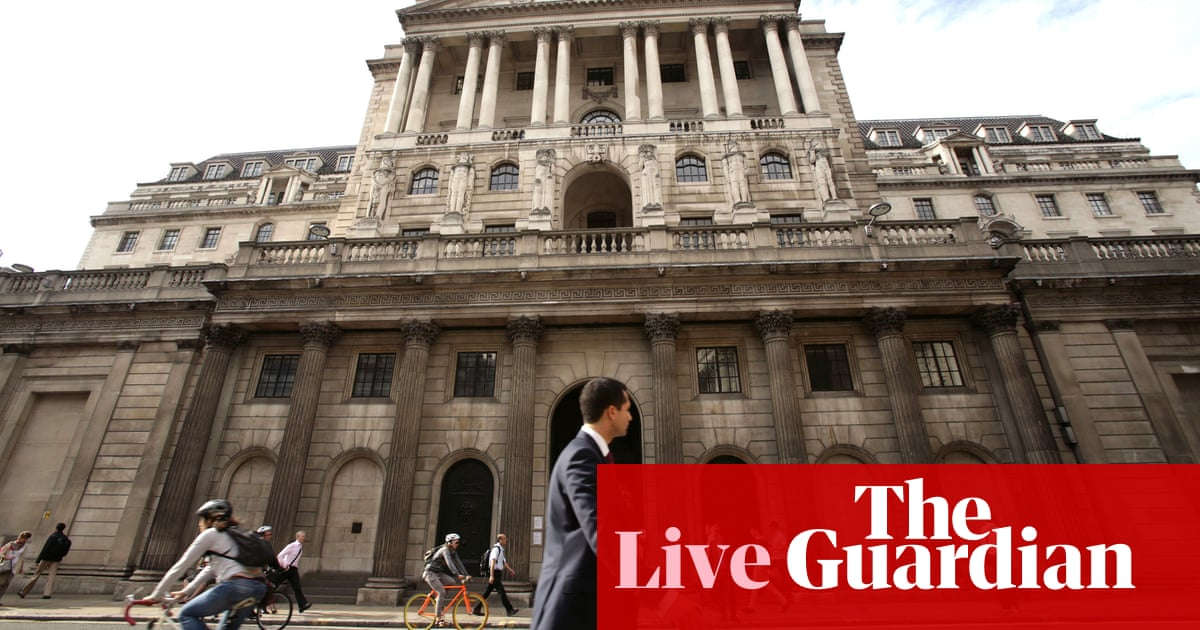 Bank of England warns Brexit delay would hurt growth, after leaving rates on hold - business live