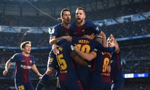 02ee233a6 Lionel Messi celebrates with his teammates after scoring the second from  the spot.