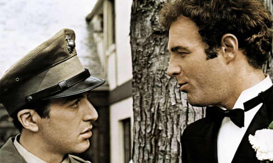 Al Pacino and James Caan in The Godfather.