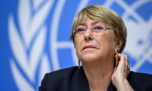 Michelle Bachelet, the UN high commissioner for huan rights, in Geneva, on 4 September.
