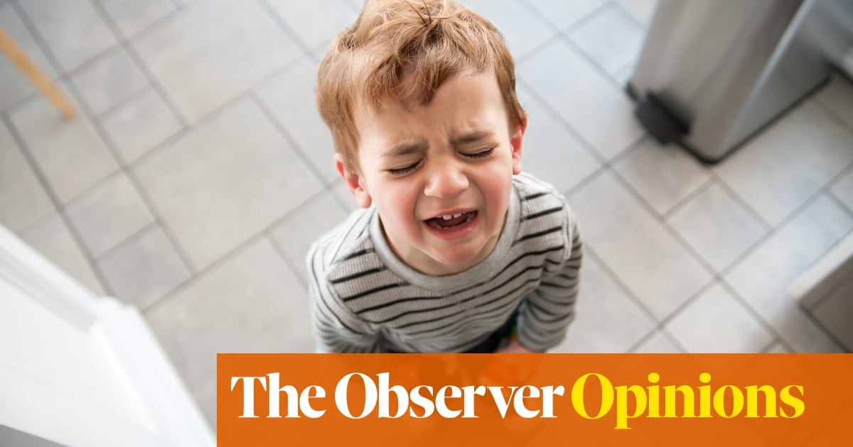Dealing with a toddler's tantrums is a fine chance for a workout