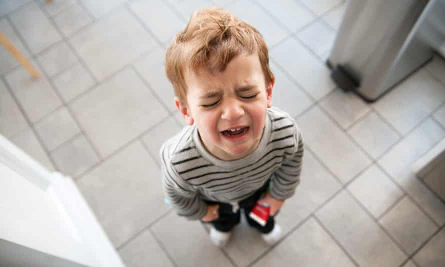 Tantrum faceToddler upset and crying.