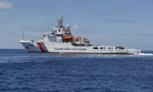 A Chinese coast guard vessel in the South China Sea.