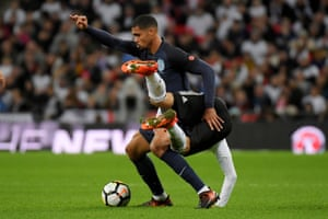 England's Ruben Loftus-Cheek in action with Germany's Emre Can