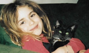 Olivia Lichtenstein's daughter Francesca and Sox the cat.