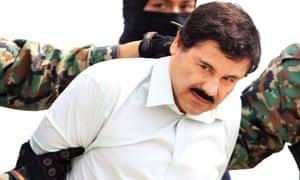 Mexican drug lord Joaquín 'El Chapo' Guzman after being recaptured in 2014