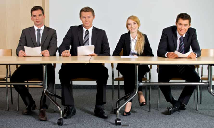 Business people sitting at a table