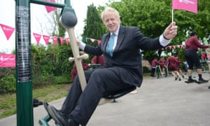 Boris Johnson at an opening of a playground in his constituency of Uxbridge and South Ruislip