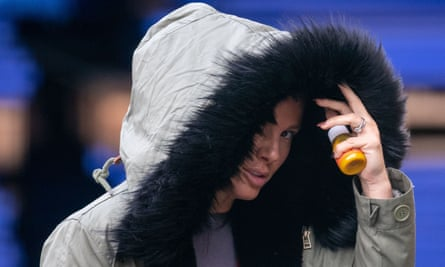 Rebekah Vardy arrives for a training session at the National Ice Centre in Nottingham earlier on Thursday as she prepares to take part in, er, Dancing On Ice 2021.