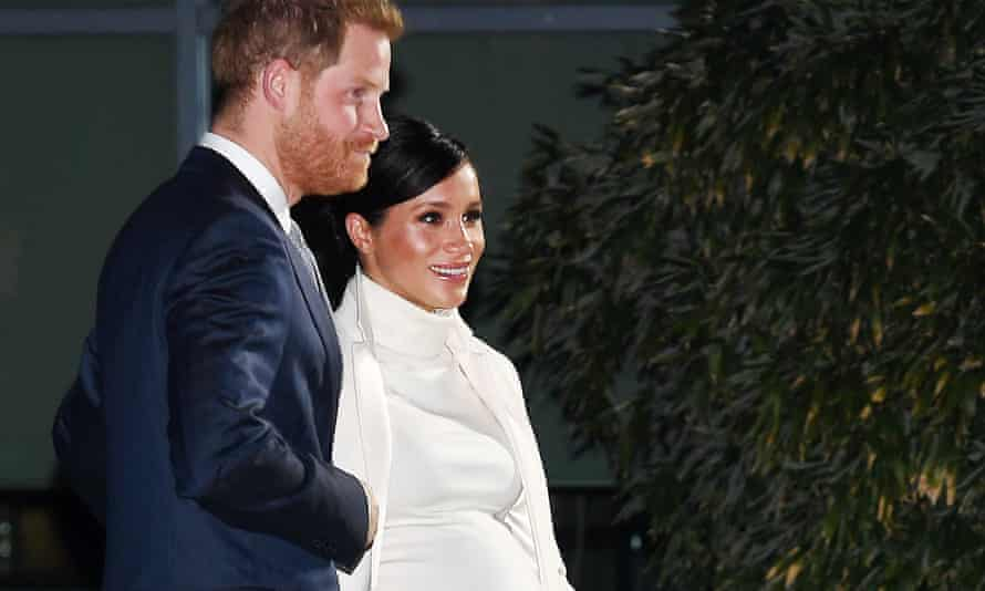The Duke and Duchess of Sussex at London's Natural History Museum on 12 February.