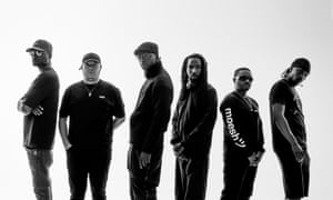 Boys R Us … BBK (left to right) Frisco, Maximum, Skepta, Jammer, Shorty and JME. Photograph: David Levene for the Guardian