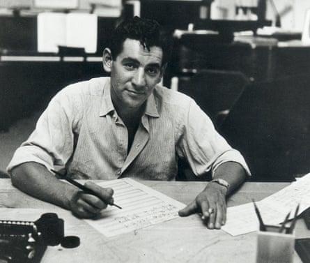 Leonard Bernstein in his New York apartment, 1947.