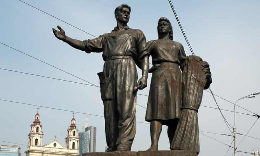 Soviet statue of farmers