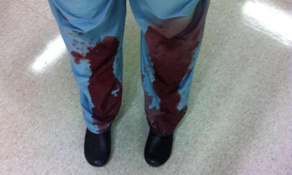 In response to the NRA's tweet asking the medical community to stay out of the gun debate, healthcare workers took to social media with pictures of bloodied scrubs and hospital rooms, personal stories, gun violence statistics and calls to action.