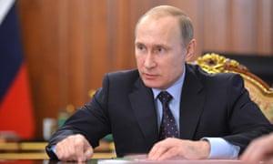 Vladimir Putin in Moscow on 29 January.
