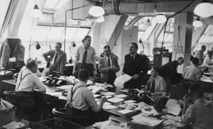 Editorial staff on the Daily Mirror, 1953