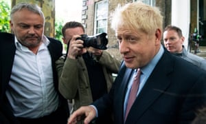 Boris Johnson after the first round of voting for the Conservative party leadership, June 2019