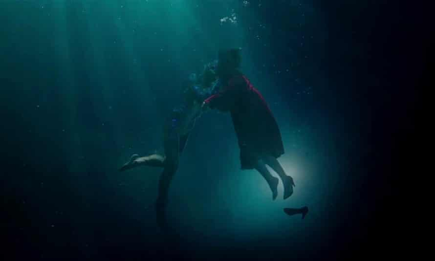 The Shape of Water, tipped for Oscar honours, is the story of a male aquatic being and his land-living female lover.