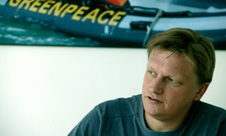 Stephen Tindale in 2005, during his stint as executive director of Greenpeace.
