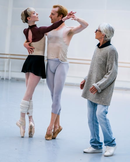 'I'm driving them crazy' … Tharp with Steven McRae and Sarah Lamb in rehearsals for The Illustrated Farewell.