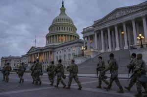 United Statees National Guard at the US Capitol.