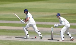 James Vince in action for Hampshire against Lancashire.
