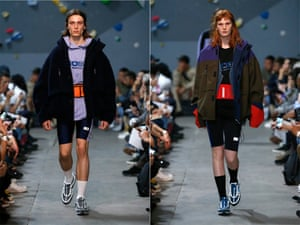 Cycling shorts Another 90s classic set for a comeback, get ready to channel your inner Mr Motivator (right: Martine Rose menswear).
