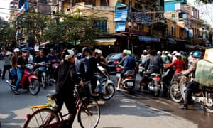 Hanoi traffic jam
