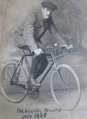Charlie Shimmell on his bike