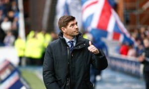 Steven Gerrard, pictured at Rangers' 7-1 win over Motherwell last Sunday, says: 'I wasn't expecting the Rangers offer. Do I think it came a bit early? Probably.'