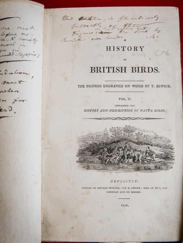 Brontë family copy of Thomas Bewick's A History of British Birds.