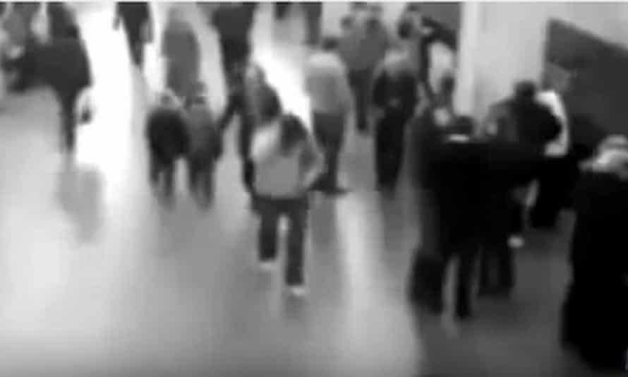 A YouTube video that was claimed to be CCTV footage from the Brussels attacks.