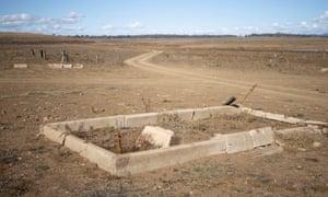 Exposed gravestones
