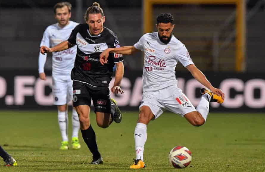 Gaël Clichy in action for Servette against Lugano last season.