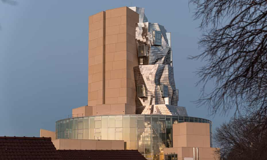 Gehry's tower forms the centrepiece of  a multidisciplinary art and culture complex developed on the site of former railway workshops