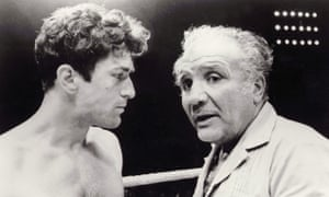 Head to head: Jake LaMotta (right) in a boxing ring with Robert De Niro, who played him in Raging Bull (1980).