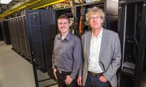 University of Canterbury composer Jason Long and Prof Jack Copeland