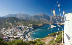 The windmills in Olympos  are an iconic feature of Karpathos