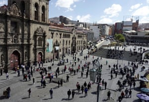 Plaza San Francisco in La Paz, Bolivia