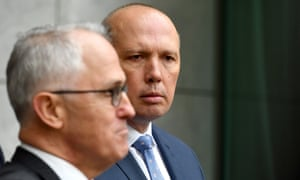 Malcolm Turnbull and Peter Dutton announce a new home affairs department on Tuesday.