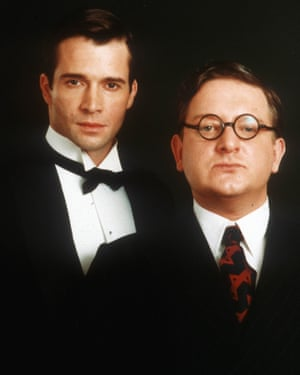 Simon Russell Beale (right, with James Purefoy) played Kenneth Widmerpole in the TV adaptation of A Dance to the Music of Time.