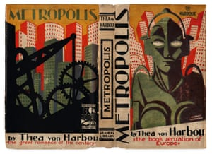 The cover of the book Metropolis by Thea von Harbou and illustrated by  Aubrey Hammond.