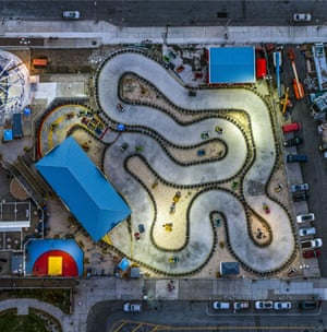 Coney Island go-kart race track, Brooklyn, New York