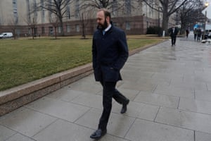 Rick Gates attends a court hearing in Washington DC.