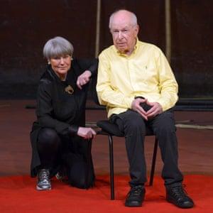 Marie-Helene Estienne and Peter Brook last year.
