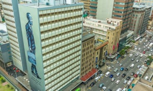 A mural of lawyer Anton Lembede on the side of Urban Lime's Durban Club Chambers.