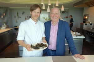 Rick Stein with Rasmus Kofoed at Geranium Restaurant.